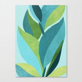 Toward The Light / Abstract Botanical Canvas Print