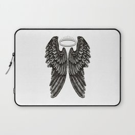 Angel Wings and Halo | Black and White | Laptop Sleeve