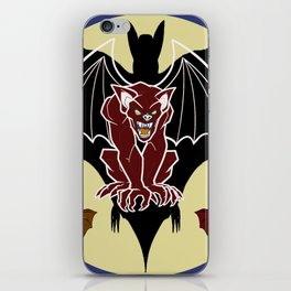 Medieval Gargoyle,Bats and Moon by Lorloves Design iPhone Skin