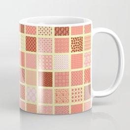 CORAL CRAZY QUILT Coffee Mug