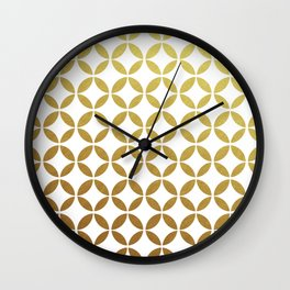rings - gold Wall Clock