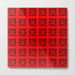 I Ching Yi jing – Symbols of Bagua 4 Metal Print