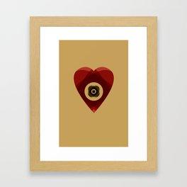 Heart of Layers Framed Art Print