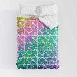 Rainbow Bubble Grid Polka Dot Pattern  Comforters