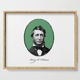 Authors - Henry David Thoreau Serving Tray
