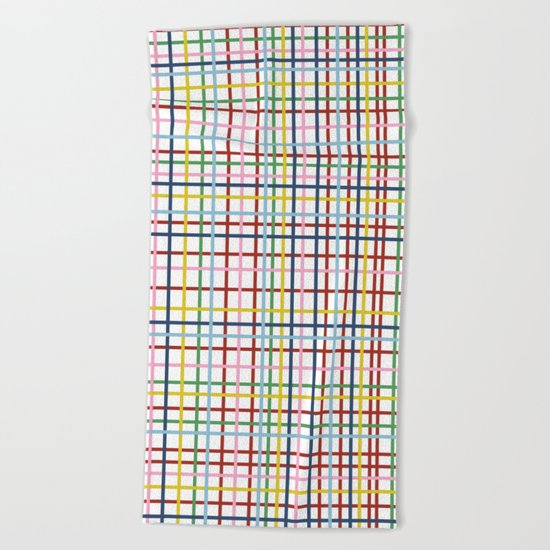 Rainbow Weave Beach Towel