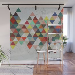 Colorful Triangles Wall Mural