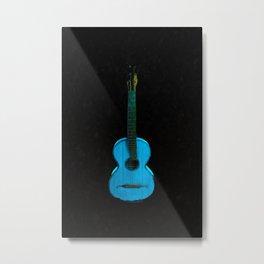 Blue Guitar Music Music Lover Metal Print