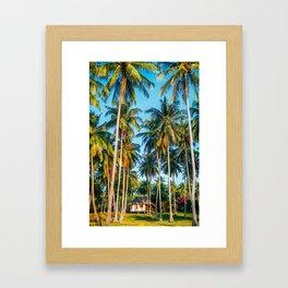 Tropic village Framed Art Print