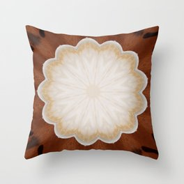 Cafe con Leche Coffee Mandala Abstract Throw Pillow
