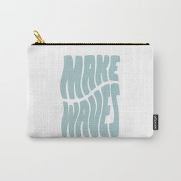 Make Waves Seafoam Blue Carry-All Pouch