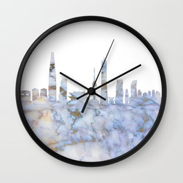 Seoul South Korea Skyline Wall Clock