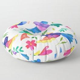 Mexican Birds Floor Pillow