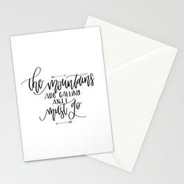 Mountains v.1 Stationery Cards