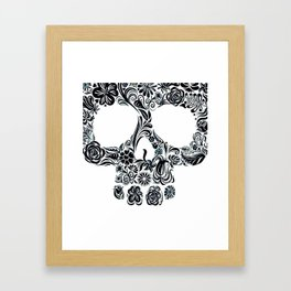 Skull (white) Framed Art Print