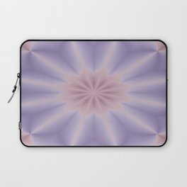 Pink and Lilac 3D Flower Three Laptop Sleeve