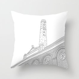 London Truman Chimney - Line Art Throw Pillow