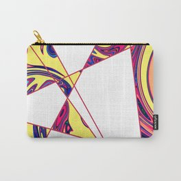 Contemporary Geometric Sunny Stone Marble Carry-All Pouch