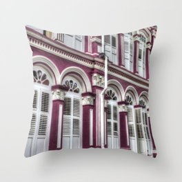 China Town Singapore Throw Pillow