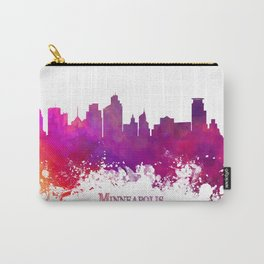 Minneapolis skyline purple Carry-All Pouch
