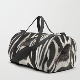 Zebra Eye Duffle Bag