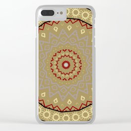 mandala art ornament pattern Clear iPhone Case
