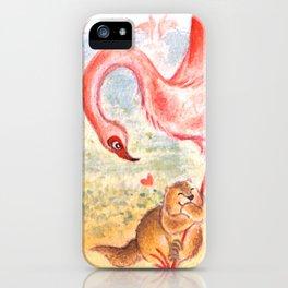 Marmot and Flamingo iPhone Case