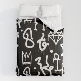 Crowns, Diamonds & Graffiti Comforters