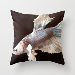Swimming Along Throw Pillow