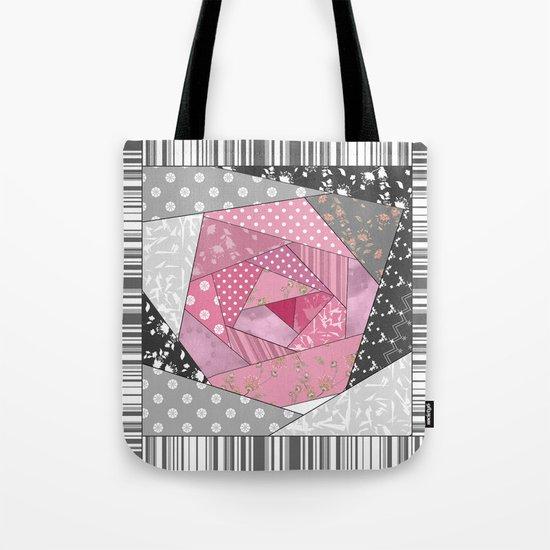 Needlework 1 . Patchwork. Roses. Tote Bag
