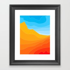 Strata Framed Art Print