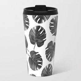 Palm Cuts (Black & White) Travel Mug