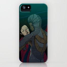 Fluid love iPhone Case