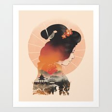 Memoirs of the Rising Sun Art Print
