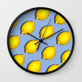 Yellow Lemons Wall Clock