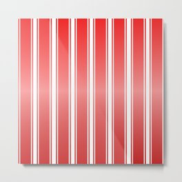 Red Racing Stripes Metal Print