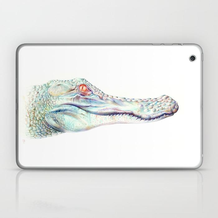 Albino Alligator Laptop & Ipad Skin by Brandonkeehner LSK4311143