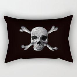 Jolly Roger - Black and White Rectangular Pillow