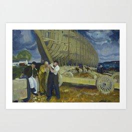 """George Wesley Bellows """"Builders of Ships"""" Art Print"""