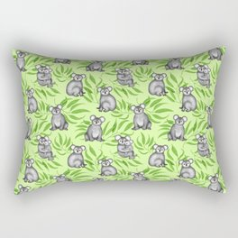 Koala Pattern Charitable Art (Green Background) Rectangular Pillow