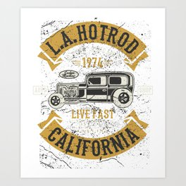 LA Hot Rod Drag Racing Art Print