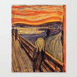 Edvard Munch  -  The Scream Canvas Print