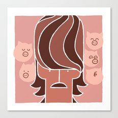George & Piggies Canvas Print