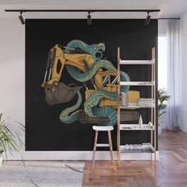 Excavator vs Anaconda Wall Mural