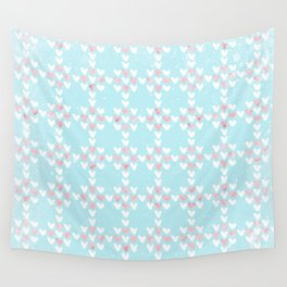From Hearts Love And Christmas-Cute teal X-Mas Pattern Wall Tapestry