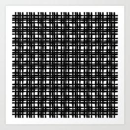 kariran (black/white) Art Print