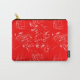 Pearlescent lines for decoration in Victorian style on a red background. Carry-All Pouch