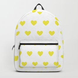 Polka dot hearts - yellow Backpack