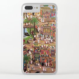 A drawing of the old city of Baghdad Clear iPhone Case