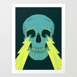 Lightning Skull Art Print